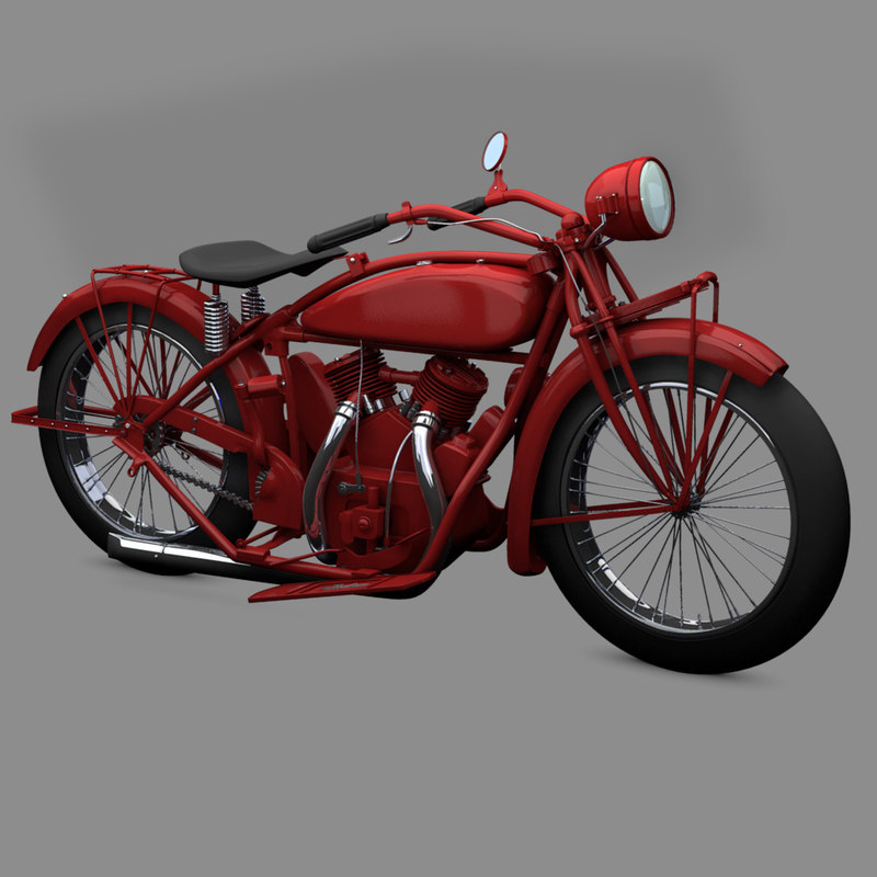 1920 indian motorcycle obj