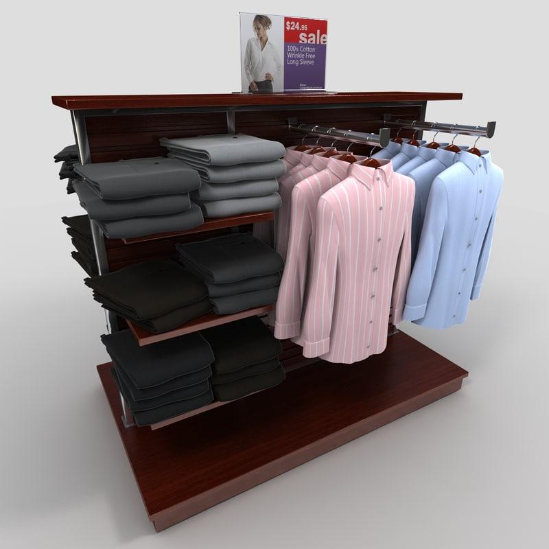 women s dress shirt 3d model