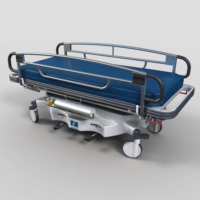 transport stretcher 3d max
