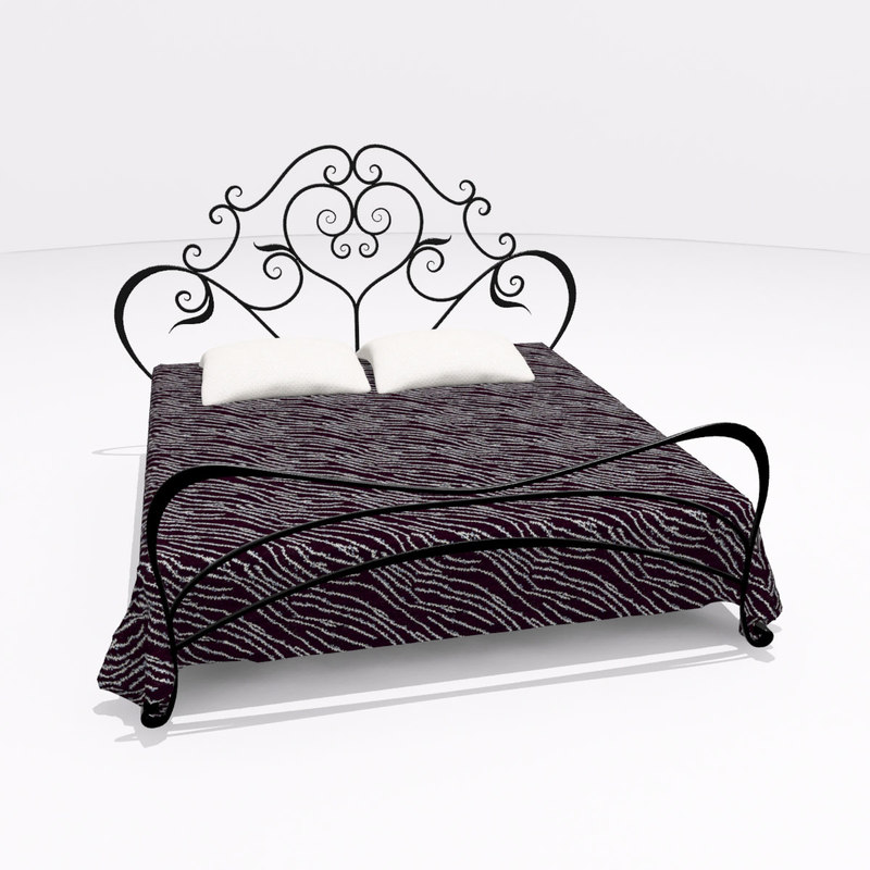 bed iron 3d max