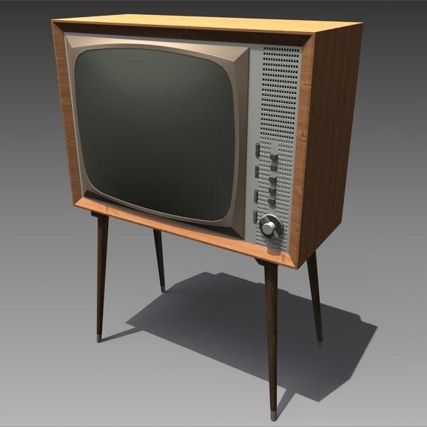 retro tv 2 3d model