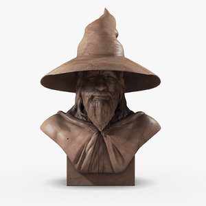 gandalf wizard tolkien 3d model