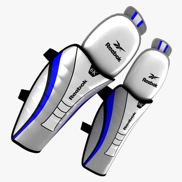3d model ice hockey shin pads