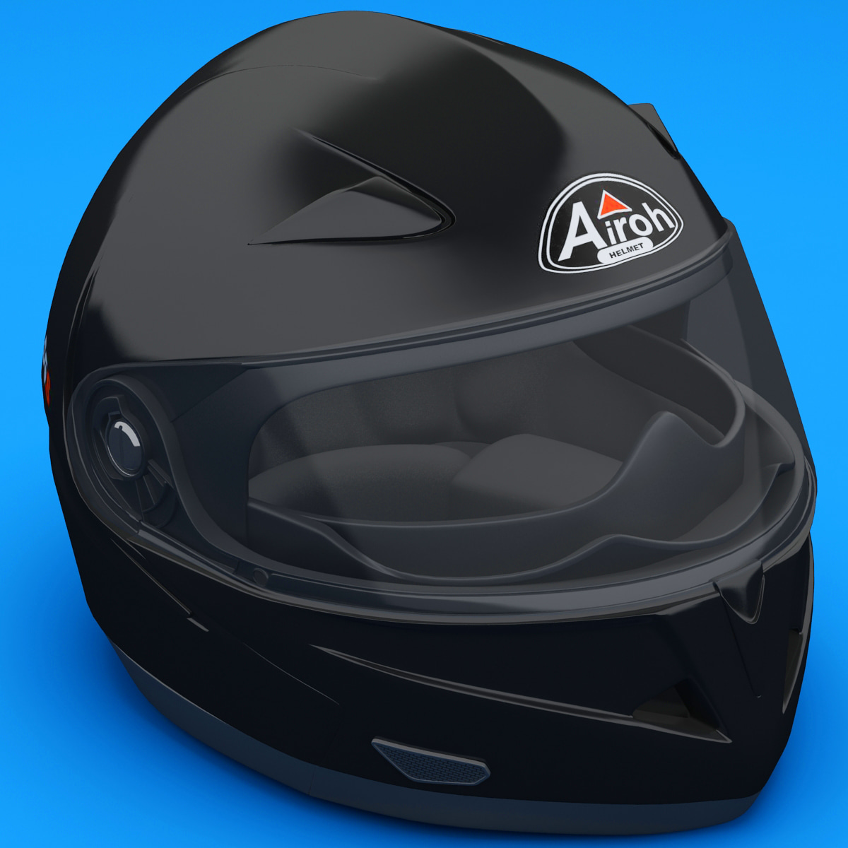 3dsmax motorcycle helmet airoh sv55s