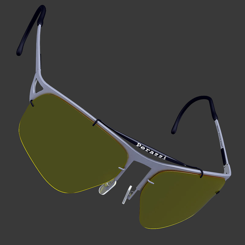 shooting glasses 3d dxf