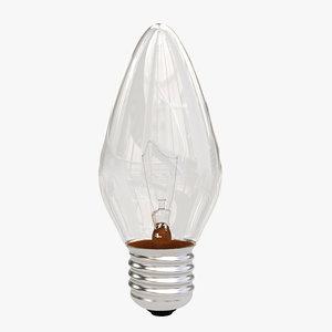 3d max candle light bulb
