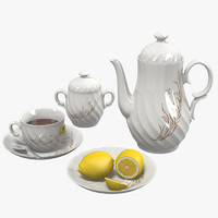 tea set porcelain 3d model