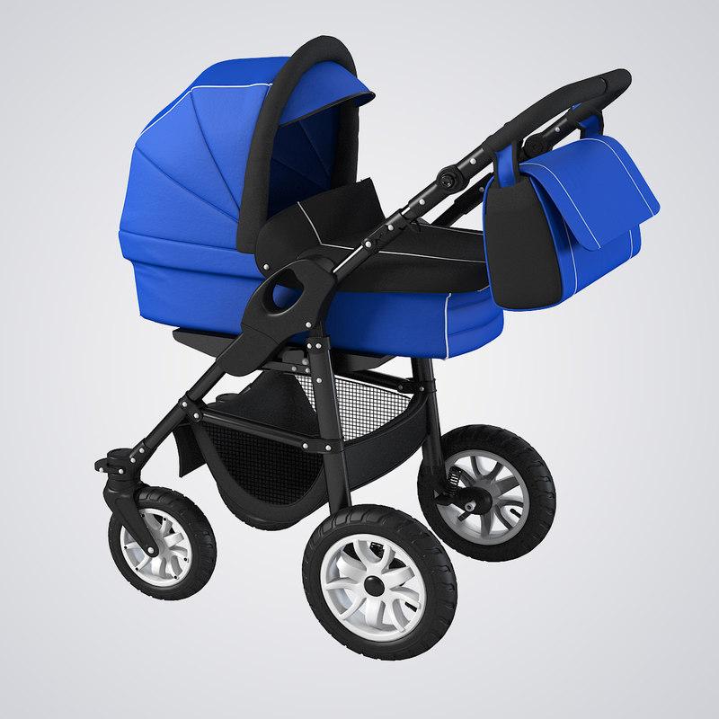 3d 3ds perambulator baby mother