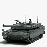 k2 black panther battle tank 3d max