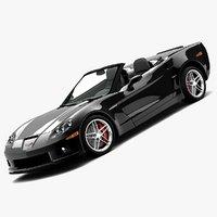 3dsmax chevrolet corvette z06 convertible