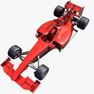 3d model of formula car