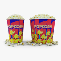 Popcorn In Tubs