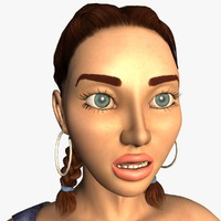 3ds alexa realistic female modeled