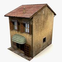 3d model old house