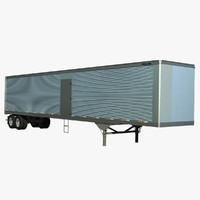 53ft van trailer truck lwo
