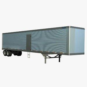 53ft van trailer truck lwo