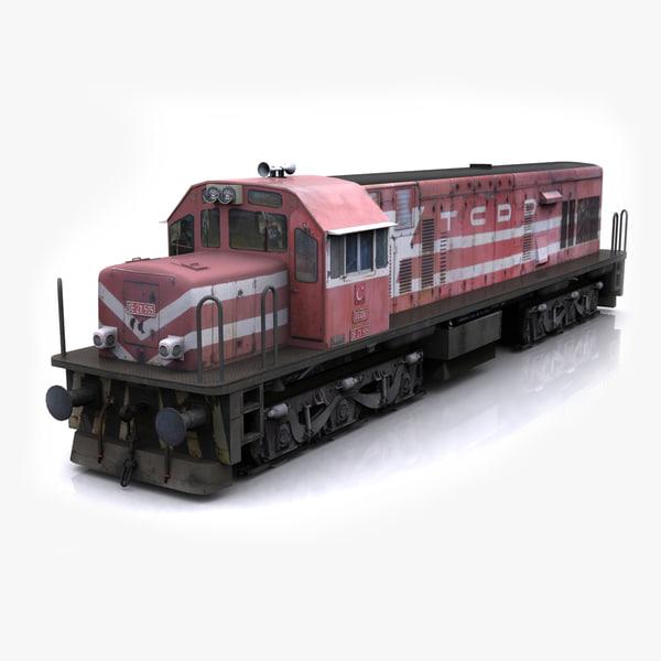 3d tcdd diesel locomotive