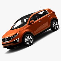 3d model of 2011 kia sportage