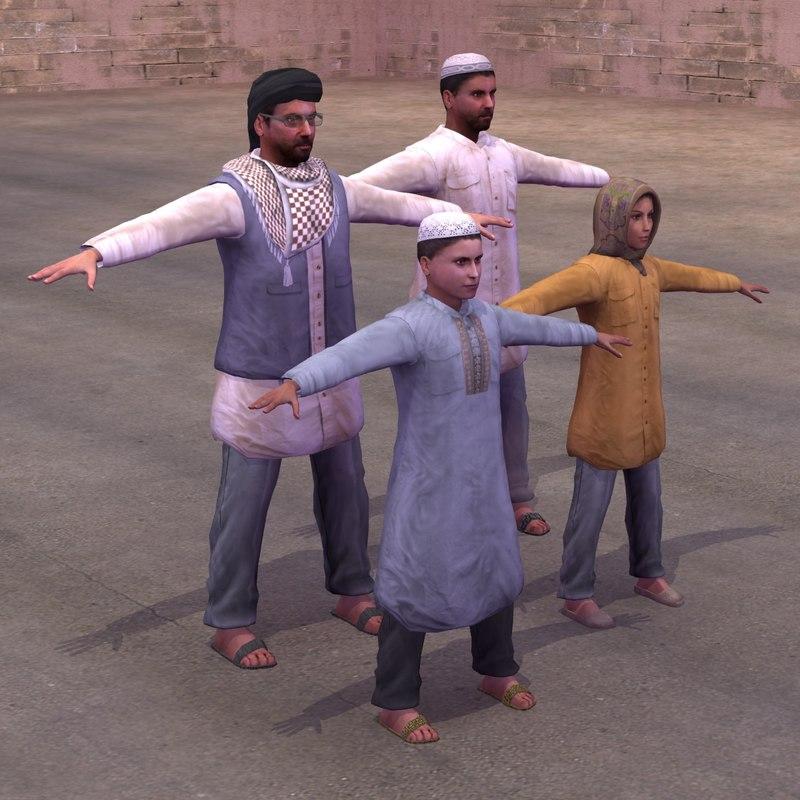 3d arab civilian