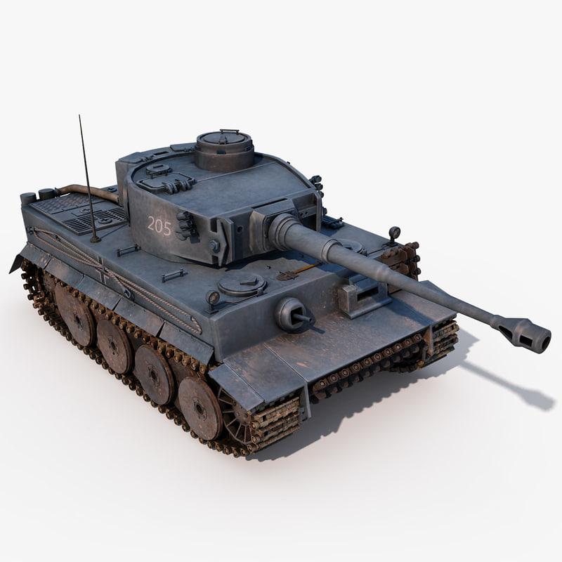 german pzkpfw vi tiger 3d 3ds