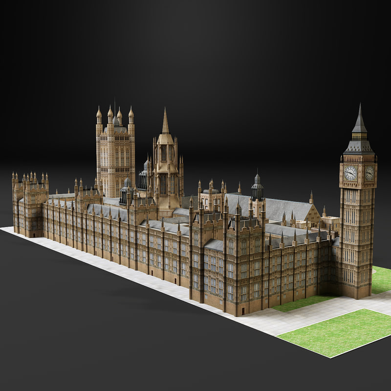 clock westminster 3d model