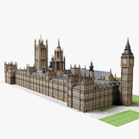 clock westminster 3d model