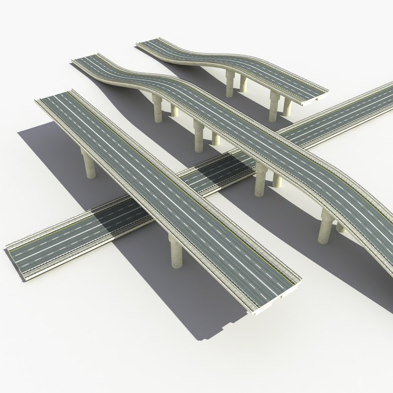 road bridge 3d max