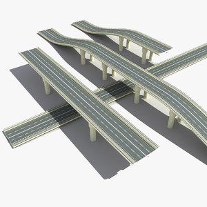 road bridge 3d max