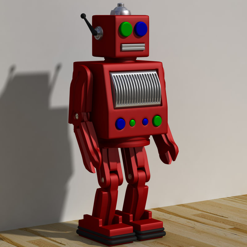 3ds max robot toy vintage