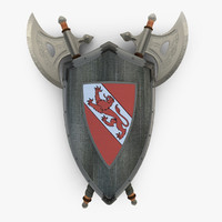 Shield Axe Hangers