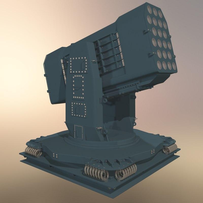 3d model missile launcher
