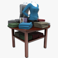 Long Shirts Display Table