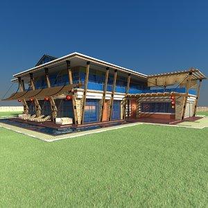 scene modern house home obj