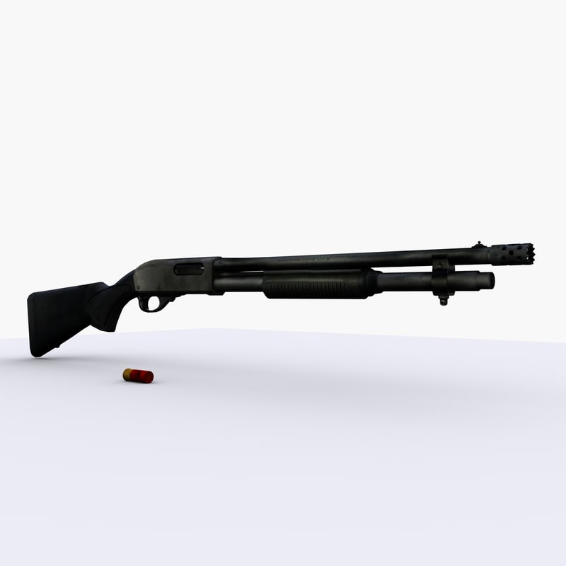 remington 870 shotgun weapons 3d model
