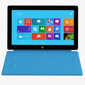 microsoft surface 2 tablet 3d obj