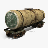 3d model old railway tank