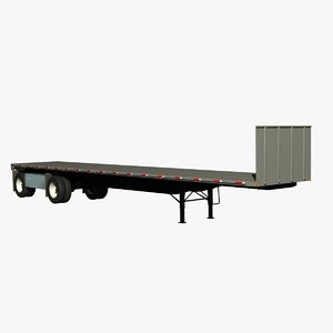 transcraft eagle 48ft trailer 3d lwo