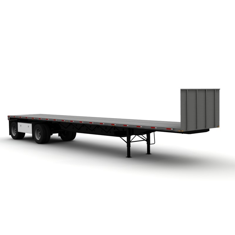 transcraft eagle 48ft trailer 3d lwo