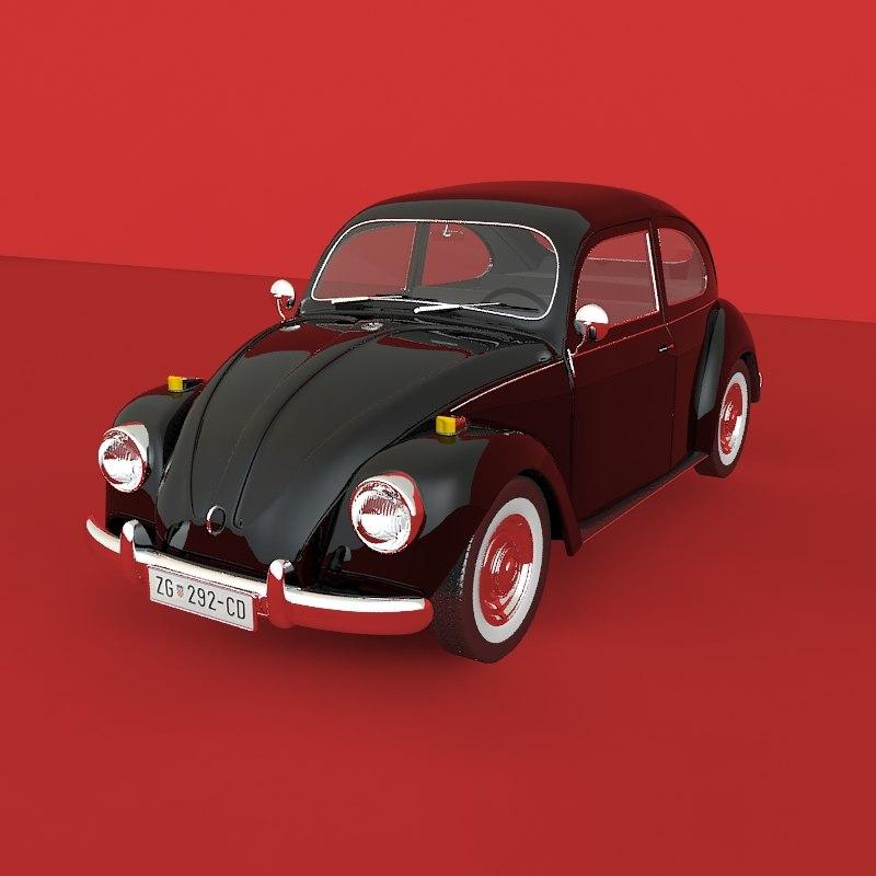 beetle 1967 3d model