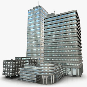 3ds max modern office buildings