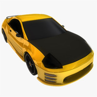 Yellow Black Sports Car