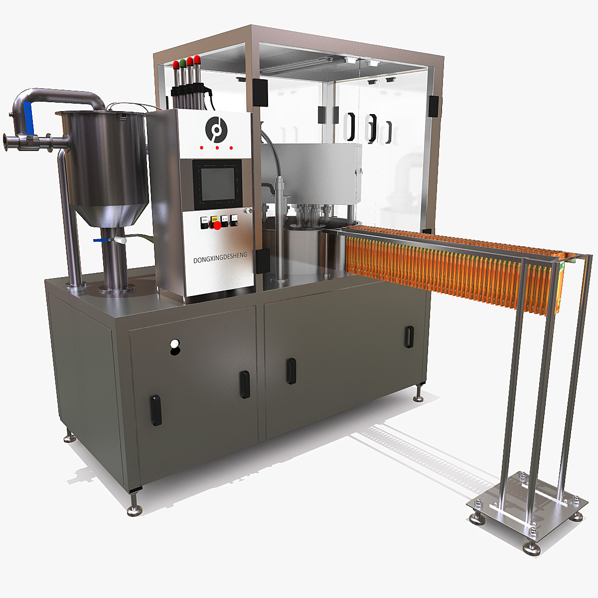 factory food packing 3d model