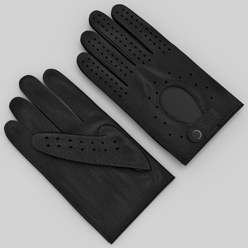 3ds max horse racing gloves black