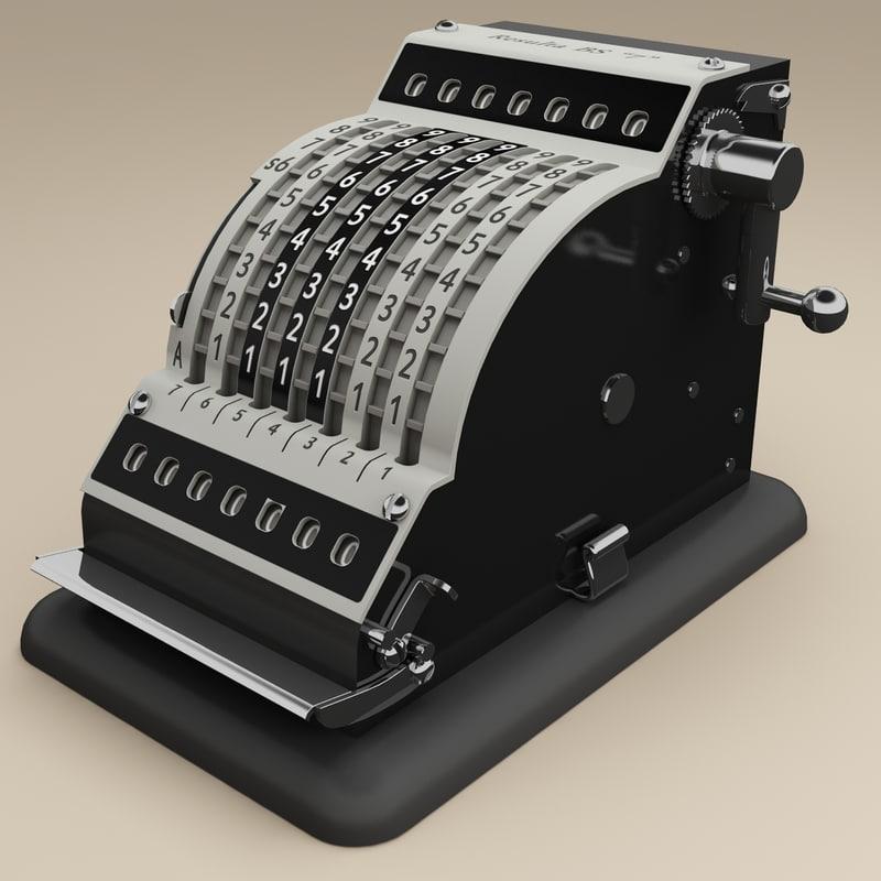 old adding machine resulta 3d 3ds