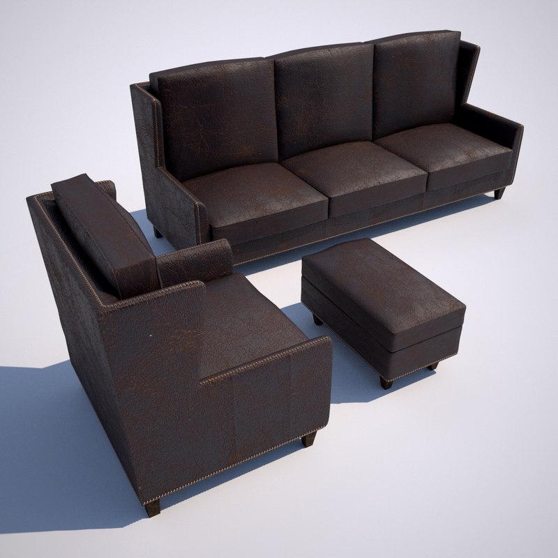 3d model vintage sofa chair