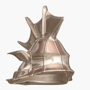 atlantis stell helmet 3d model