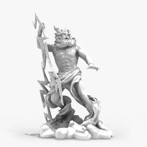 zeus statue 3d max
