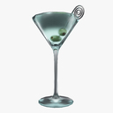 martini glass 3D models