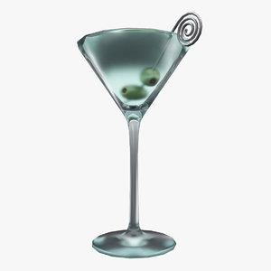 3d model martini olives