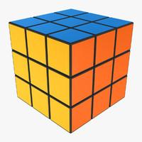 rubiks cube 3d fbx